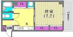 ハーバーステージ神戸[402号室]の間取り