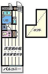 東京都足立区西新井3丁目の賃貸マンションの間取り