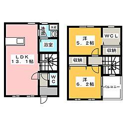 [テラスハウス] 愛知県江南市宮後町砂場北 の賃貸【/】の間取り