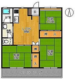 新栄ビル[401号室]の間取り