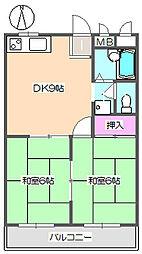 サンハイツ 302[3階]の間取り