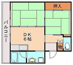 ビレッジハウス飯塚1号棟[4階]の間取り