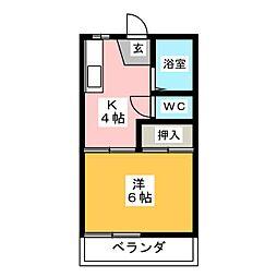 コーポ2・2[2階]の間取り