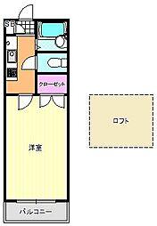 エクセレント夙川[2階]の間取り