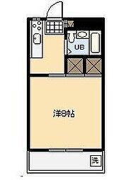 第3グリーンビル[203号室]の間取り
