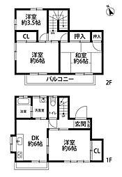 [一戸建] 埼玉県所沢市小手指南6丁目 の賃貸【/】の間取り