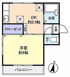 シェーネスハウス勝田台[2階]の間取り