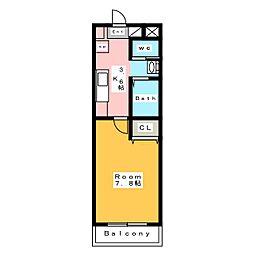 Kビル横山[4階]の間取り