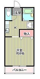 南海高野線 金剛駅 バス10分 帝塚山学院大学前下車 徒歩3分の賃貸マンション 2階1Kの間取り