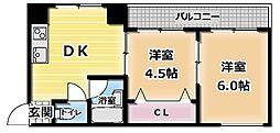 田畑マンション[2階]の間取り