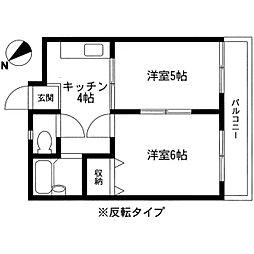 寿コーポ[1階]の間取り