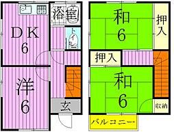 [タウンハウス] 千葉県松戸市新松戸7丁目 の賃貸【千葉県 / 松戸市】の間取り
