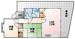 [テラスハウス] 兵庫県西宮市上鳴尾町 の賃貸【/】の間取り