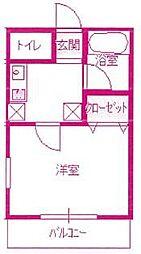 ハイツエミリ[2階]の間取り