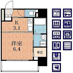 OAK弥栄・夕陽ヶ丘[11階]の間取り