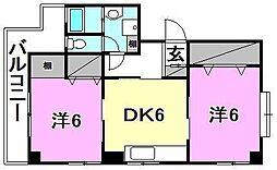 レ・セーナ東石井[201 号室号室]の間取り