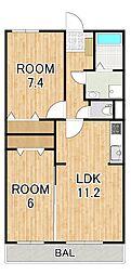 (仮称)シャロルIII上鈎マンション 1階2LDKの間取り