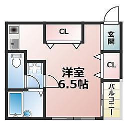 シャトー瑠美[2階]の間取り