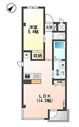 レインボーシティ・SIII[6階]の間取り