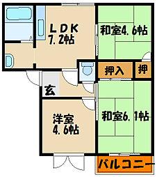 フレグランスリッチ[2階]の間取り