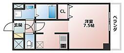 レオンコンフォート上本町[4階]の間取り