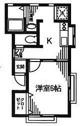 アフィーノ[1階]の間取り