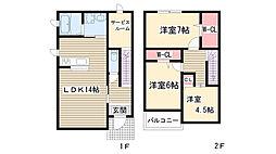 [一戸建] 愛知県名古屋市名東区豊が丘 の賃貸【/】の間取り