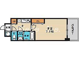 レジュールアッシュ梅田レジデンス[13階]の間取り
