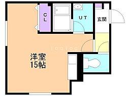 Will 4階ワンルームの間取り