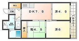 グロリーハイツ常盤[5階]の間取り