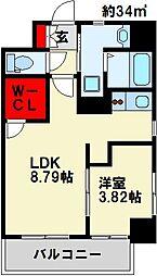 GALA PLATINUM COURT 4階1LDKの間取り