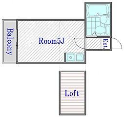 LP滝野川[2階]の間取り