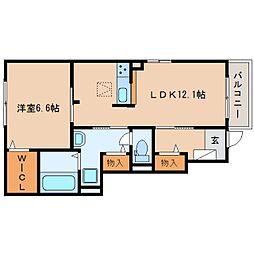 静岡鉄道静岡清水線 新清水駅 バス21分 三保松原入口下車 徒歩12分の賃貸アパート 1階1LDKの間取り