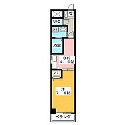 シ−ナリ−瑞穂[7階]の間取り