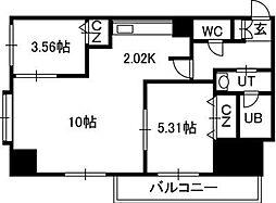 PRIME URBAN大通東[2階]の間取り