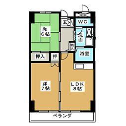 第32オーシャンハイツ[2階]の間取り