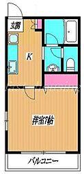 東京都三鷹市井の頭2丁目の賃貸アパートの間取り