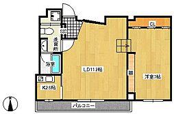 かぐら坂荘[2階]の間取り