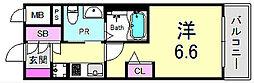 エステムプラザ神戸三宮ルクシア 8階1Kの間取り