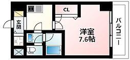 Osaka Metro御堂筋線 東三国駅 徒歩5分の賃貸マンション 6階1Kの間取り