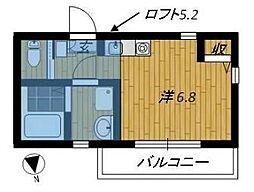グッドウィル桜並木II[1階]の間取り