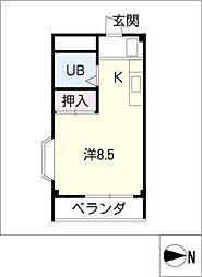シティハウス八剣[4階]の間取り