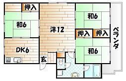 井堀南団地 7号棟[4階]の間取り