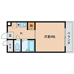 奈良県橿原市五条野町の賃貸マンションの間取り