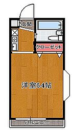 埼玉県志木市幸町1丁目の賃貸アパートの間取り