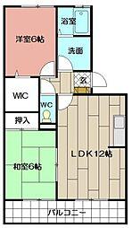 レスポワール赤坂B棟[105号室]の間取り