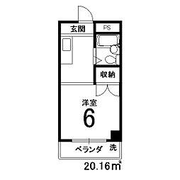サードサークル1[206号室]の間取り