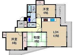 ミューズパーク[2階]の間取り