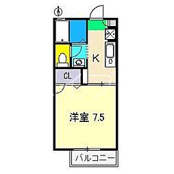 シャーメゾン・ソレイユ B棟[2階]の間取り