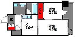 プライムアーバン香椎[4階]の間取り